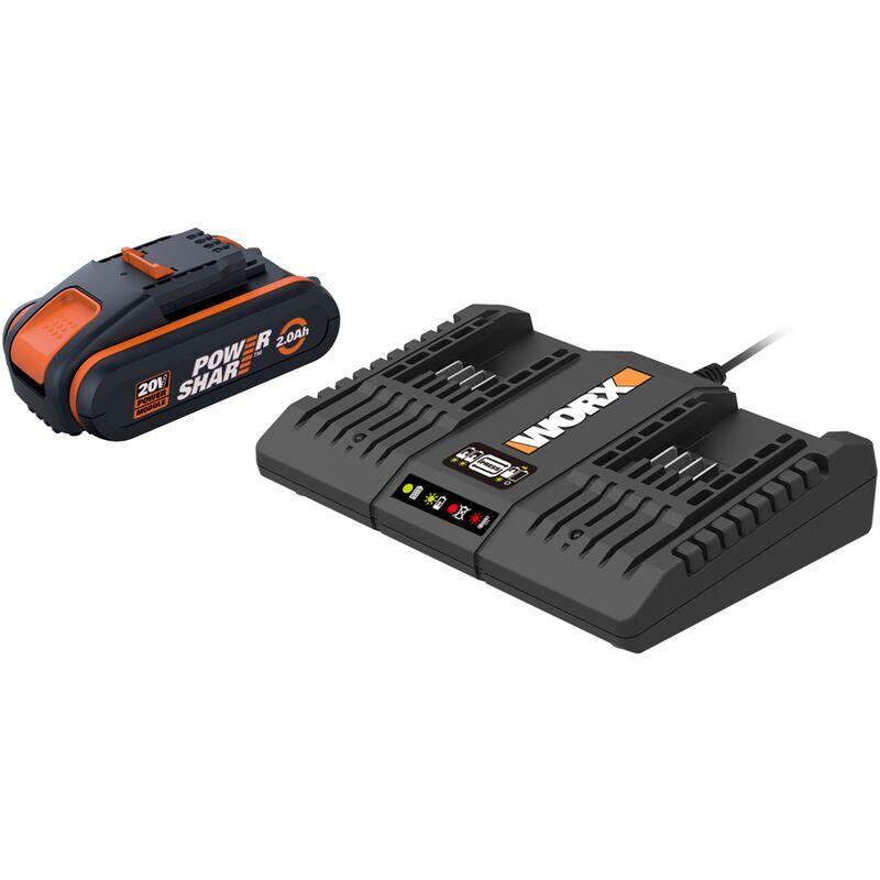 WORX Kit 2 batteries et double chargeur Worx 2x20V