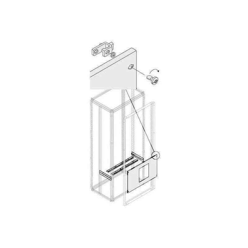 ABB Kit Vert. 2Xe1.2 3/4P Fixe H 450mm L 800mm 1STQ008485A0000 ABB PVDE1262