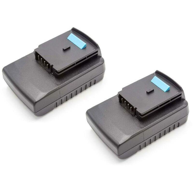 VHBW Lot 2 batteries vhbw 2000mAh (18V)pour outils Black & Decker GLC2500L,