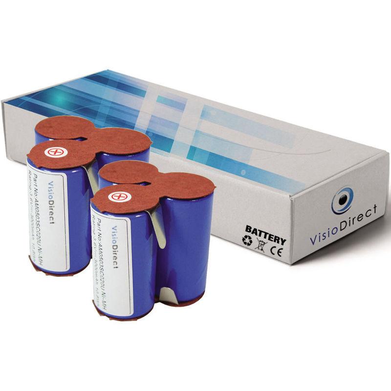 VISIODIRECT Lot de 2 batteries pour AEG Electrolux Junior 2.0 Type 141 aspirateur sans fil