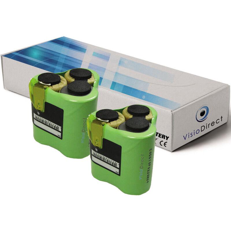 VISIODIRECT Lot de 2 batteries pour AEG Liliput AG1413 aspirateur sans fil 3000mAh 3.6V