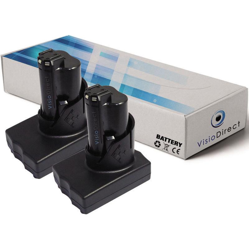 Visiodirect - Lot de 2 batteries pour AEG Milwaukee C12 PPC C12 WS M12 M12 IR