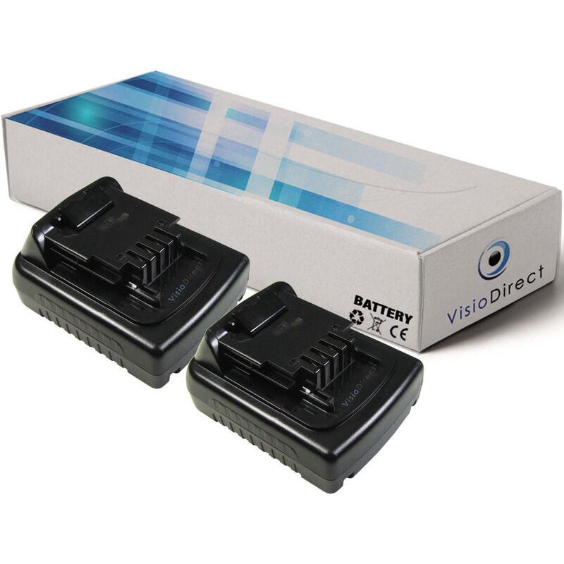 VISIODIRECT Lot de 2 batteries pour Black et Decker LDX120C perceuse visseuse 1500mAh 14.4V