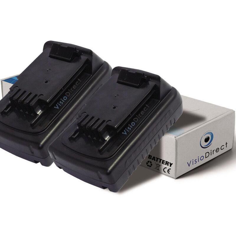 VISIODIRECT Lot de 2 batteries pour Black et Decker LDX120C perceuse visseuse 1500mAh 18V