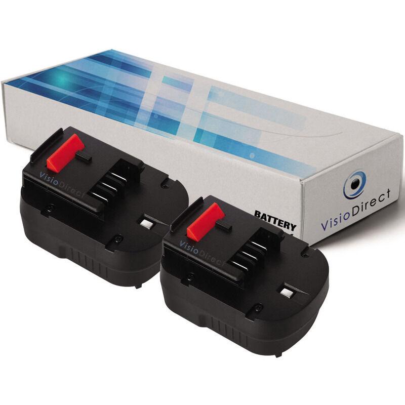 Visiodirect - Lot de 2 batteries pour Black et Decker XD1200 perceuse visseuse
