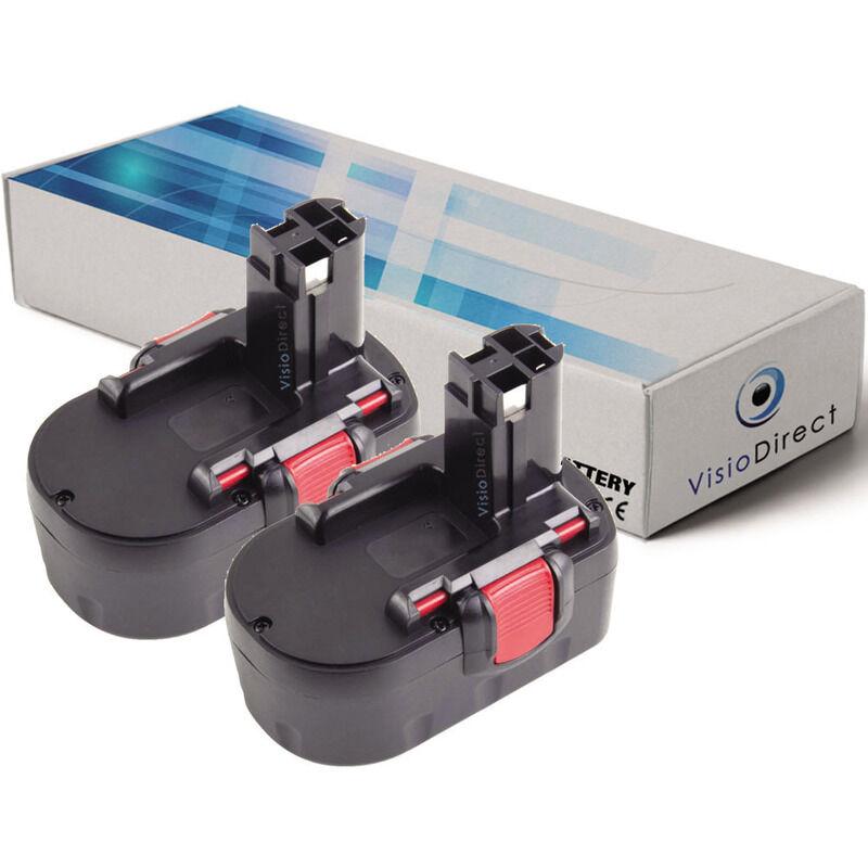 Visiodirect - Lot de 2 batteries pour Bosch ART 26LI coupe bordures 3000mAh