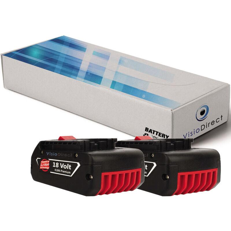 Visiodirect - Lot de 2 batteries pour Bosch DDS181 perceuse sans fil 4000mAh 18V