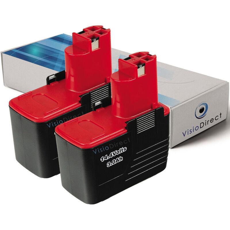 Visiodirect - Lot de 2 batteries pour Bosch PSR perceuse visseuse 14.4 VES-2