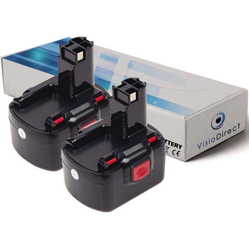 Visiodirect - Lot de 2 batteries pour Bosch PSR12 perceuse visseuse 3000mAh 12V