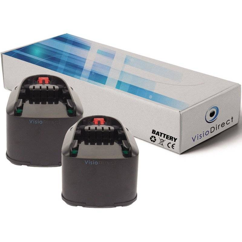 Visiodirect - Lot de 2 batteries pour Bosch PST 18 LI scie sauteuse 3000mAh 18V