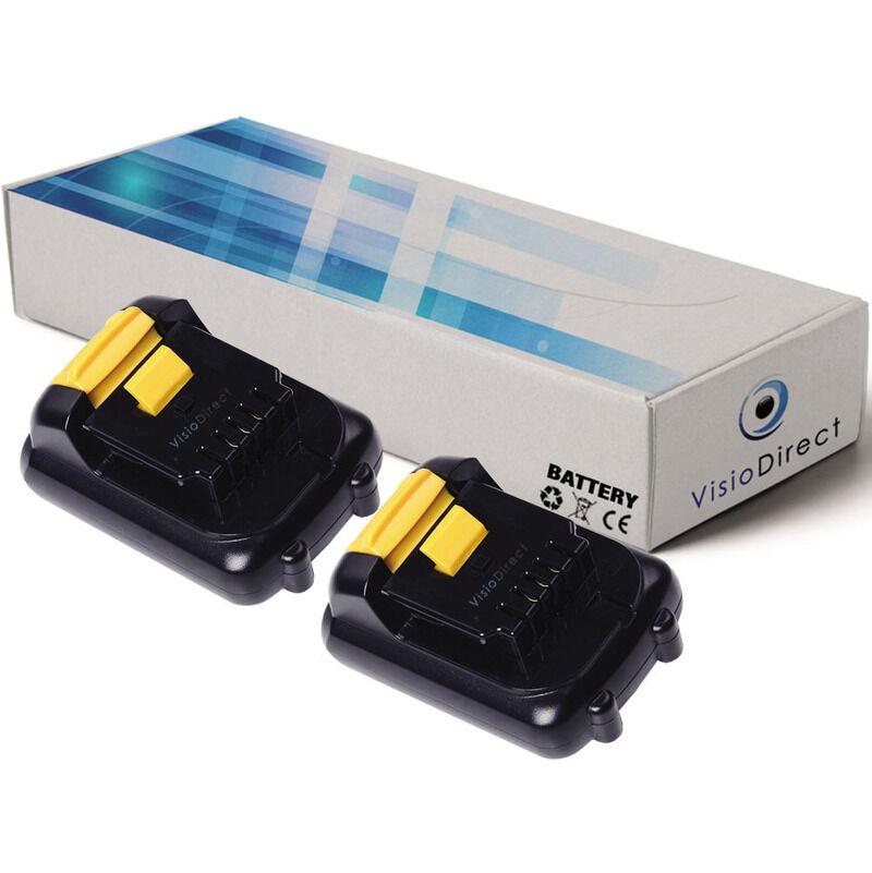 VISIODIRECT Lot de 2 batteries pour DEWALT DWMTCIR20 outils sans fil 1500mAh 10.8V