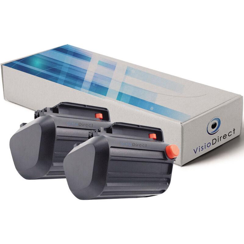 VISIODIRECT Lot de 2 batteries pour Gardena TCS Li-18/20 coupe branches 2500mAh 18V