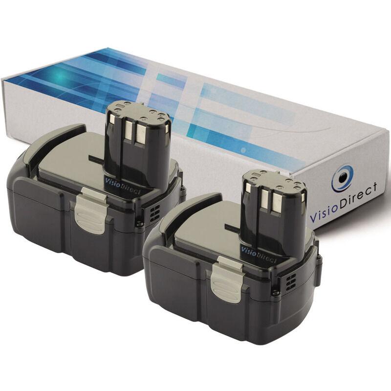 Visiodirect - Lot de 2 batteries pour Hitachi C18 DLP4 scie sauteuse 3000mAh 18V