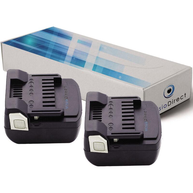VISIODIRECT Lot de 2 batteries pour Hitachi CJ 14DSL perceuse visseuse 3000mAh 14.4V
