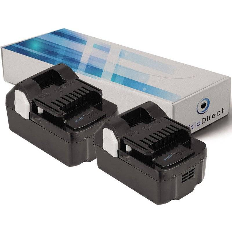 VISIODIRECT Lot de 2 batteries pour Hitachi CJ18DSLP4 scie sauteuse 3000mAh 18V