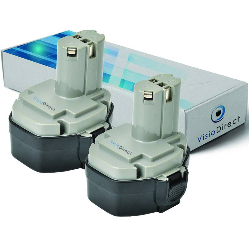 Visiodirect - Lot de 2 batteries pour MAKITA 4333DWD scie sauteuse 3000mAh 14.4V