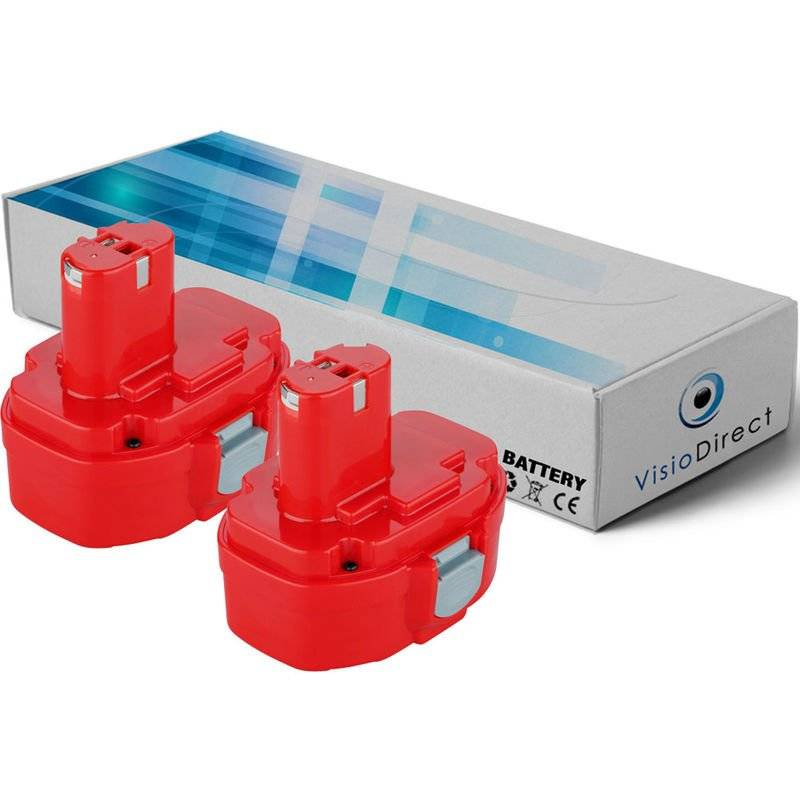 VISIODIRECT Lot de 2 batteries pour MAKITA 4333DZ Scie sauteuse 14.4V 3000mAh - Visiodirect