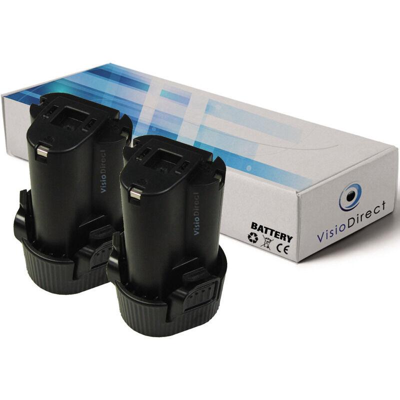 Visiodirect - Lot de 2 batteries pour Makita CC300DW carrelette sans fil