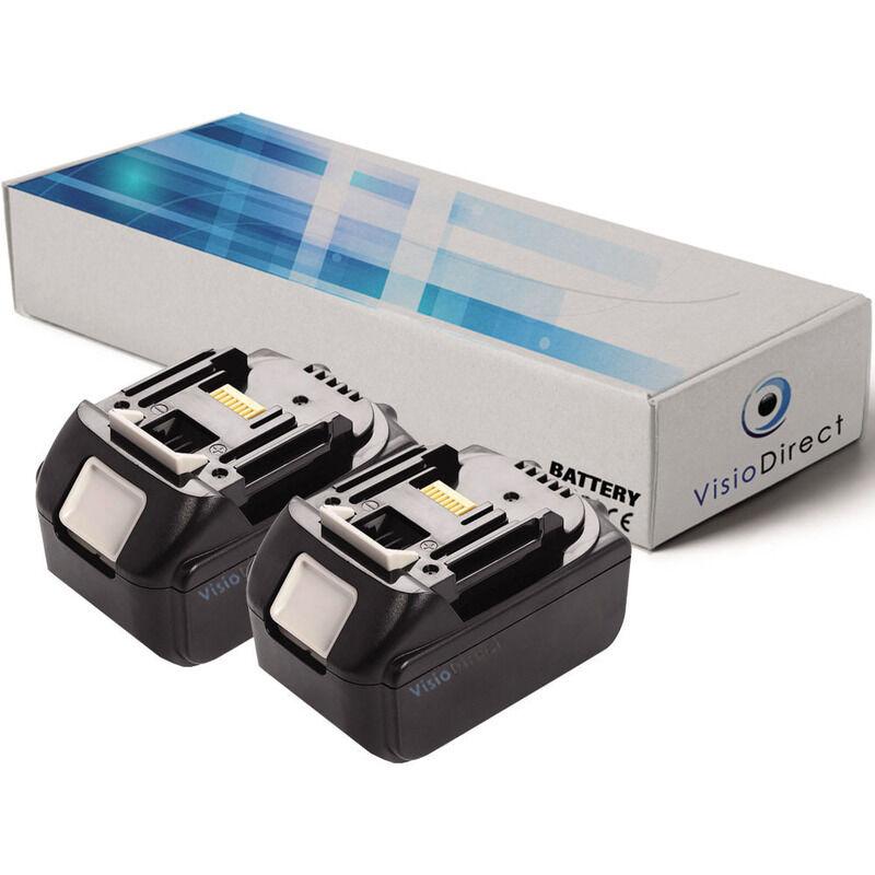 Visiodirect - Lot de 2 batteries pour Makita XVJ02Z scie sauteuse 3000mAh 18V