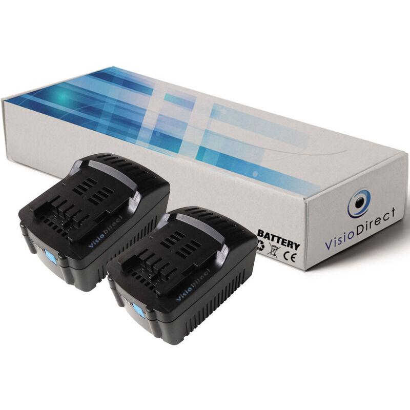 Visiodirect - Lot de 2 batteries pour Metabo STA 18 LTX scie sauteuse 3000mAh