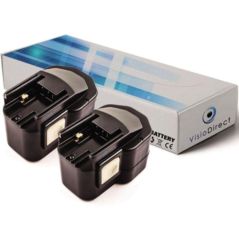 VISIODIRECT Lot de 2 batteries pour Milwaukee LokTor PJX12PP scie sauteuse pendulaire 12V