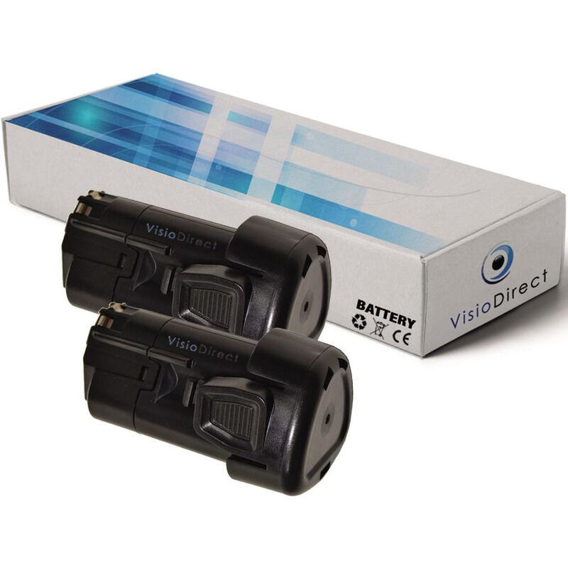 Visiodirect - Lot de 2 batteries type LBXR12 pour Black et Decker 1500mAh 10.8V