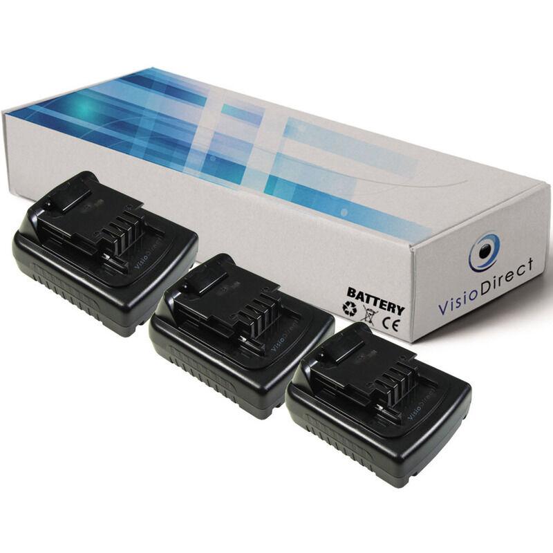 VISIODIRECT Lot de 3 batteries pour Black et Decker LDX120C perceuse visseuse 1500mAh 14.4V
