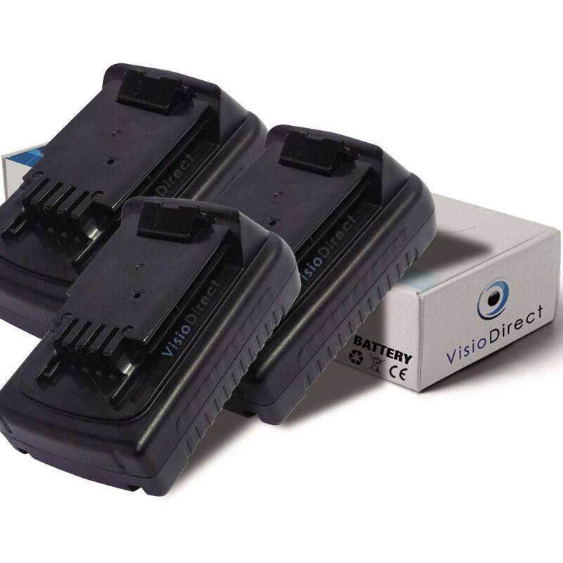 VISIODIRECT Lot de 3 batteries pour Black et Decker LST220 taille-bordures 1500mAh 18V