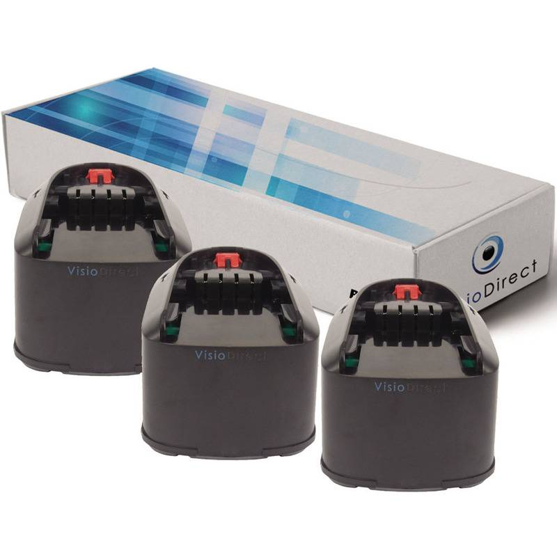 VISIODIRECT Lot de 3 batteries pour Bosch PST 18 LI scie sauteuse 3000mAh 18V