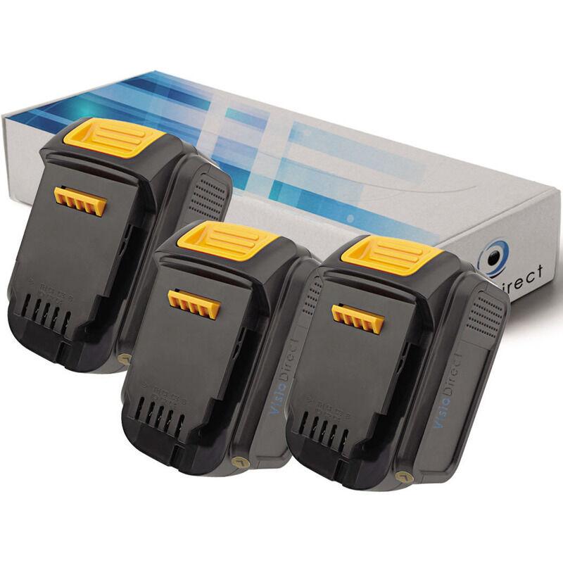 Visiodirect - Lot de 3 batteries pour DEWALT DCS320L2 scie alternative 3000mAh