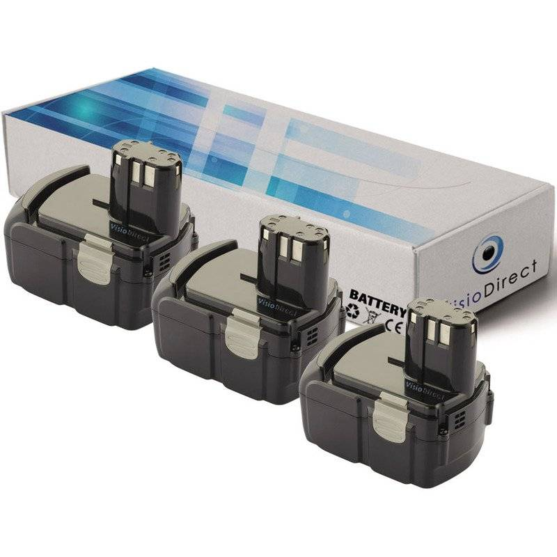 Visiodirect - Lot de 3 batteries pour Hitachi C 18DMR scie circulaire 3000mAh