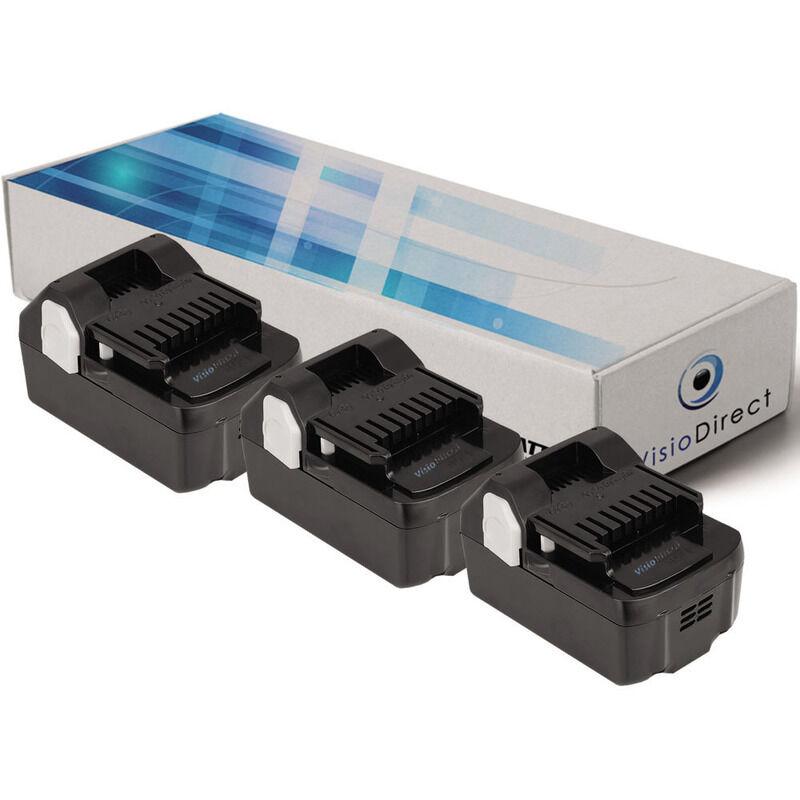 Visiodirect - Lot de 3 batteries pour Hitachi CJ18DSL scie sauteuse 3000mAh 18V