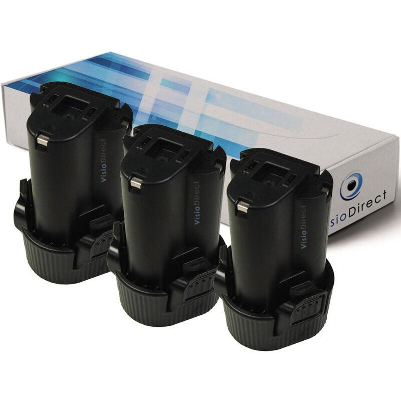 Visiodirect - Lot de 3 batteries pour Makita JV100DW scie sauteuse 1500mAh 10.8V
