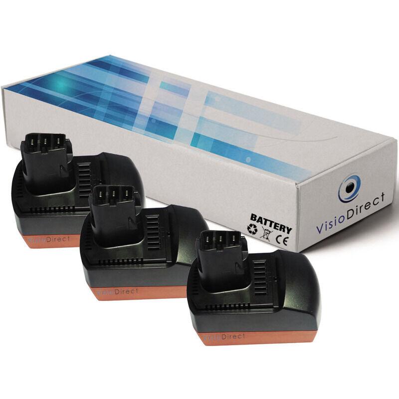 Visiodirect - Lot de 3 batteries pour Metabo KSAP18Li scie circulaire 3000mAh