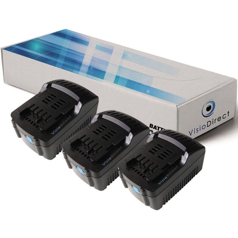 Visiodirect - Lot de 3 batteries pour Metabo STA 18 LTX scie sauteuse 3000mAh