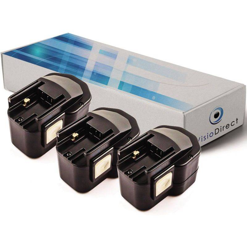 Visiodirect - Lot de 3 batteries pour Milwaukee LokTor PJX12PP scie sauteuse