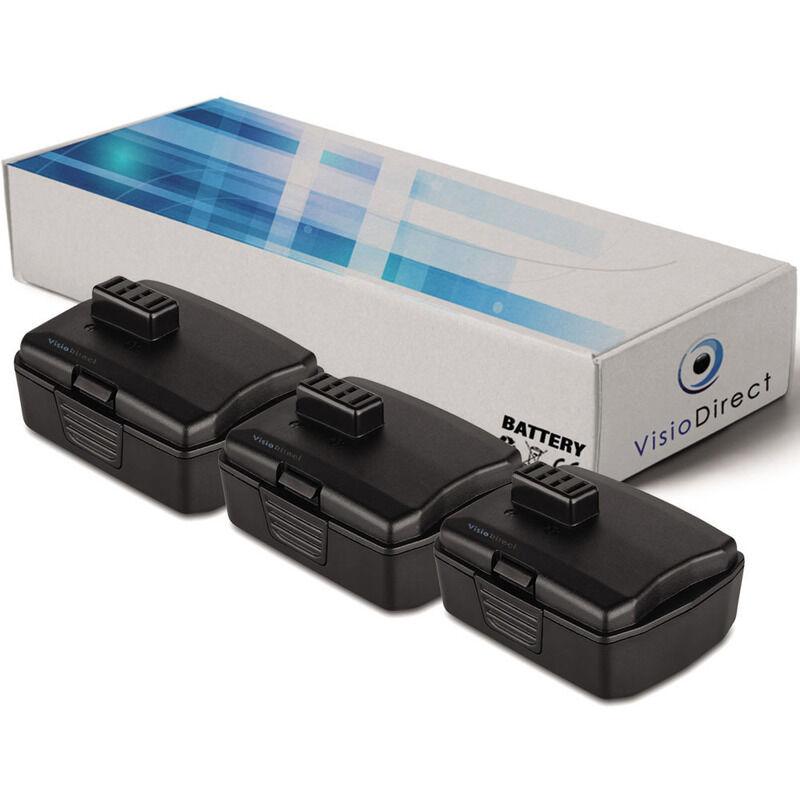 Visiodirect - Lot de 3 batteries pour Ryobi CR-1201 scie circulaire 2000mAh 12V