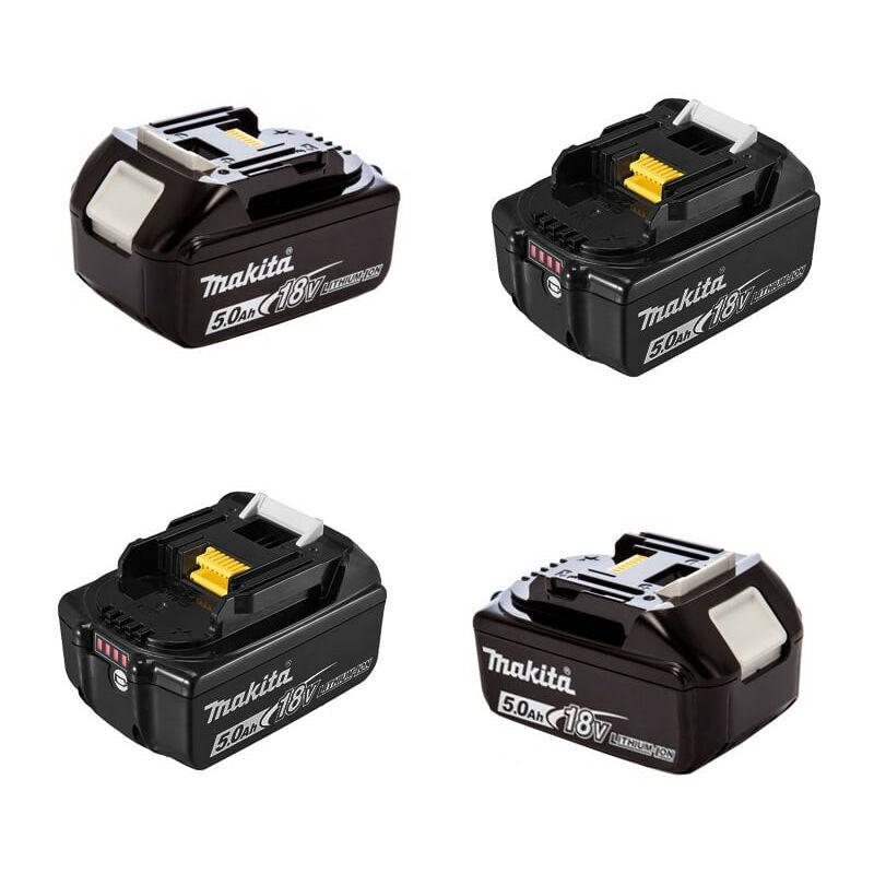 MAKITA Lot de 4 batteries 18V Li-Ion 5,0Ah pour outil sans fil - Makita BL1850BX4