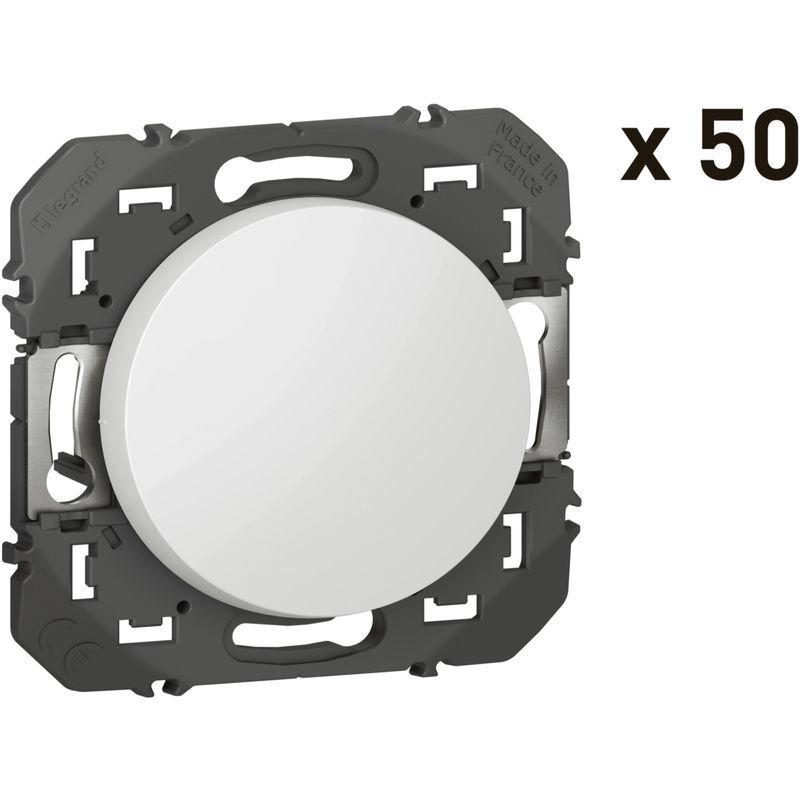 LEGRAND Dooxie lot special chantier de 50 interrupteurs ou va et vients blanc