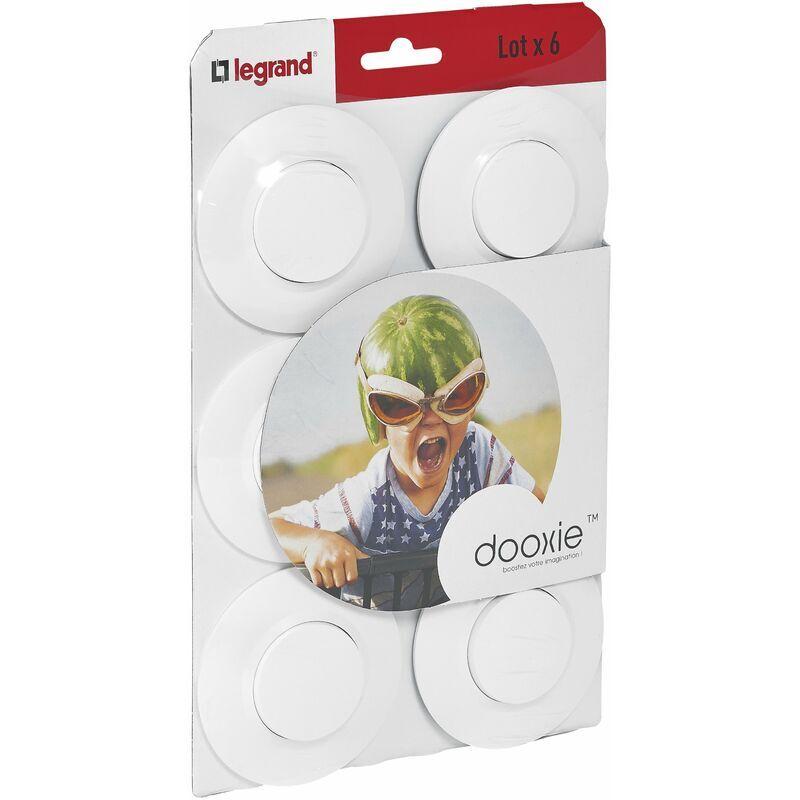 LEGRAND Lot de 6 Interrupteurs ou va-et-vient Dooxie - Blanc - Complet - Legrand