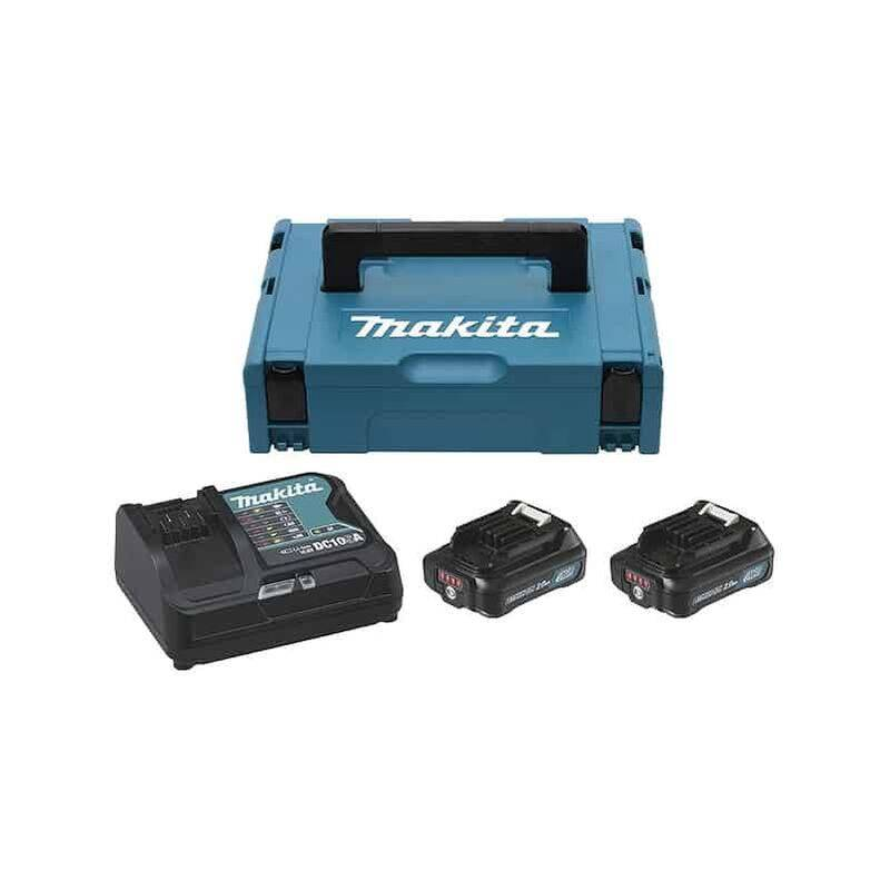 MAKITA Pack 2 batteries 10.8V 2Ah + chargeur DC10SA -197657-7
