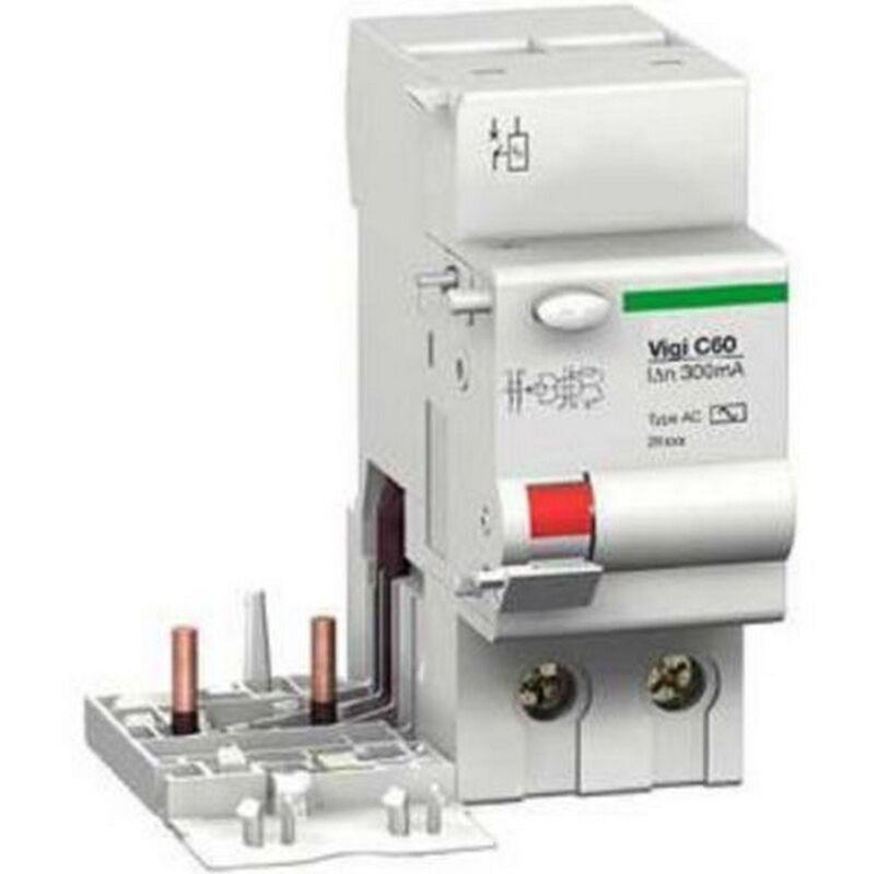 SCHNEIDER ELECTRIC Merlin Gerin 26549 - bloc Différentiel Vigi C60 - 63A - 2P - 220..415 V - 300ma