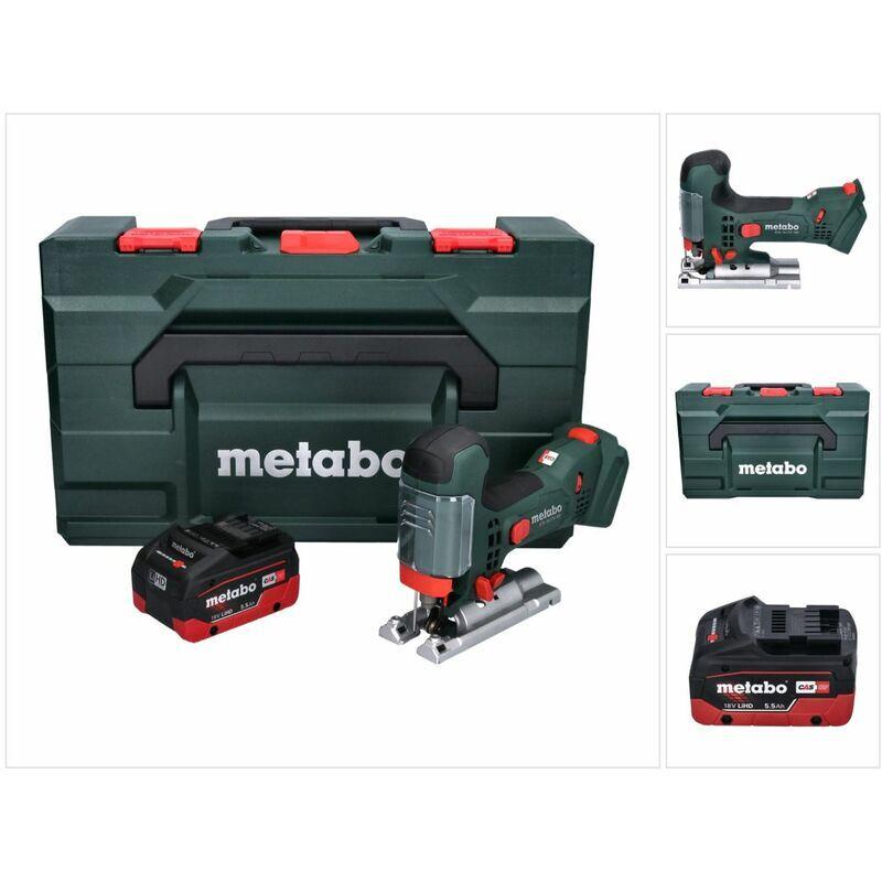 METABO STA 18 LTX 100 Scie sauteuse sans fil 18V ( 601002840 ) + 1x Batterie 5,5Ah +