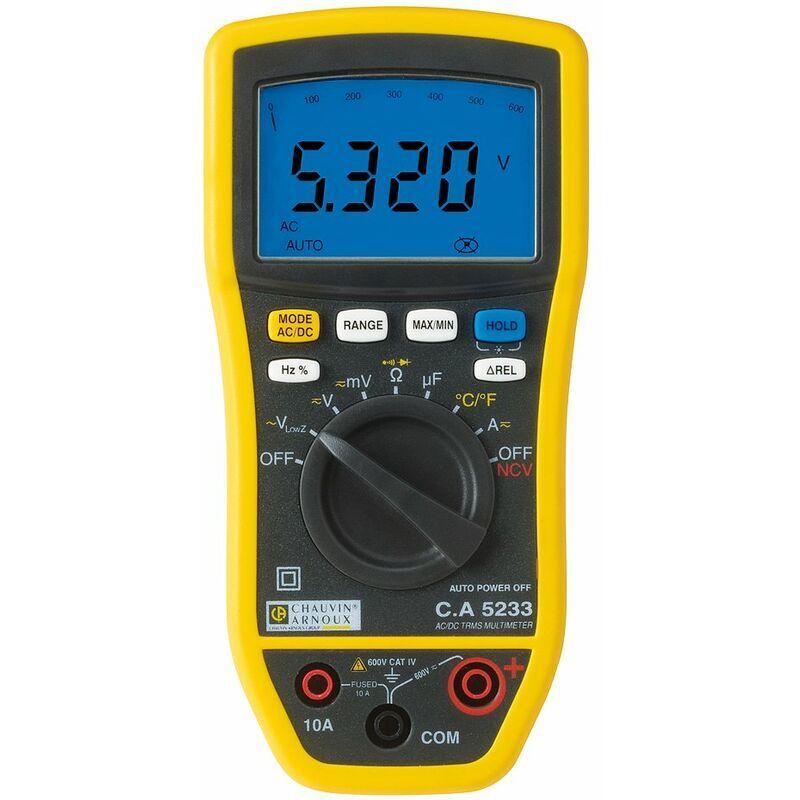 Chauvin Arnoux - Multimètre numérique TrueRMS CA5233 Q72393
