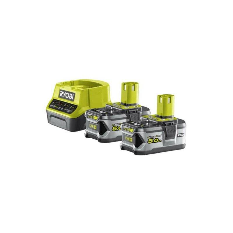 RYOBI Pack 2 batteries RYOBI 18V OnePlus 5.0Ah LithiumPlus - 1 chargeur rapide 2.0Ah