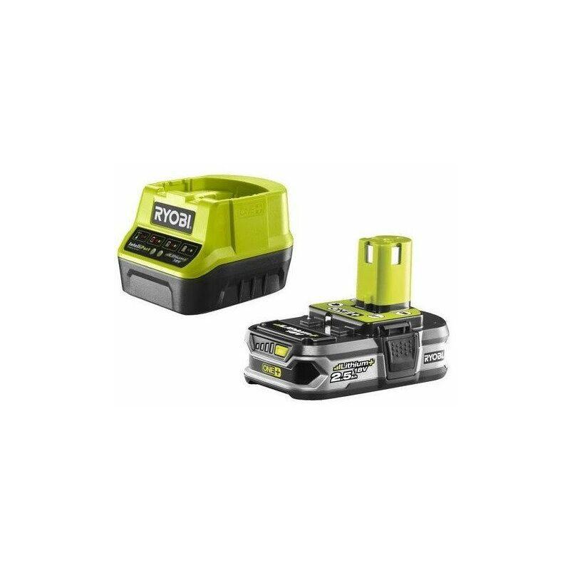 RYOBI Promo Ryobi - Chargeur rapide et batterie Lithium+ 18V 2.5Ah One+ - RC18120-125