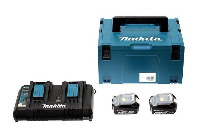 MAKITA Pack Énergie MAKITA 18V Li-Ion + 2 batteries 18V 4.0Ah + 1 chargeur double avec
