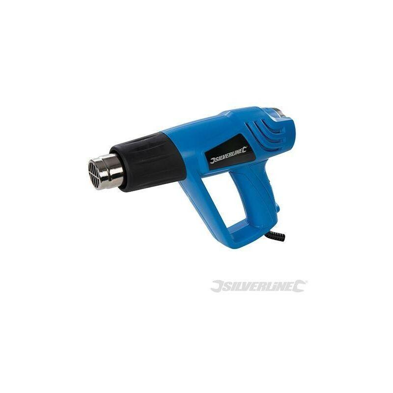 SILVERLINE Pistolet décapeur réglable 2 000 W, 550°C (UK)