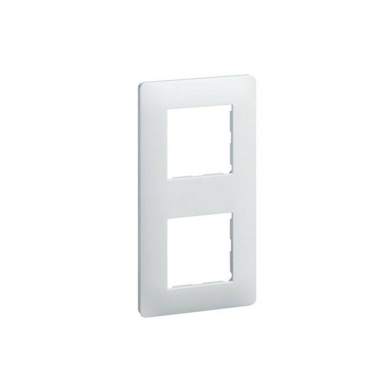 HAGER Essensya Plaque 2 postes entr.71 Blanc (WE402)