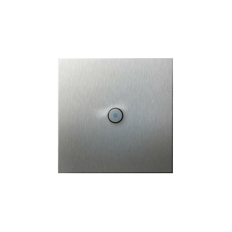 ARNOULD Poussoir 2A lumineux à bouton rond à voyant 230V acier brossé Art d' 67411